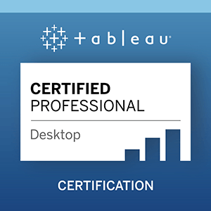 Passing The Tableau Desktop Certified Professional Qualification Will Sutton